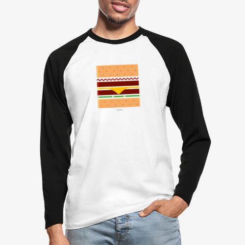 Square Burger - Maglia da baseball a manica lunga da uomo