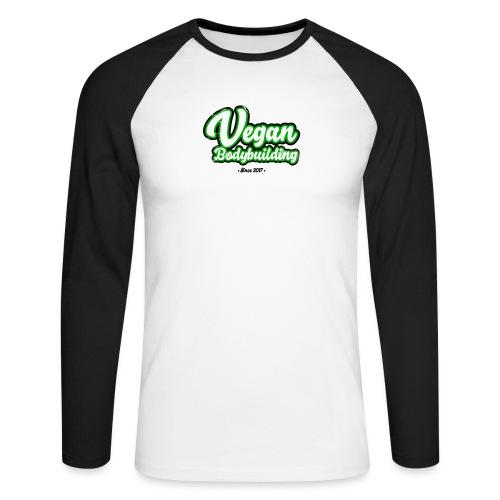 Vegan Bodybuilding -design - Miesten pitkähihainen baseballpaita