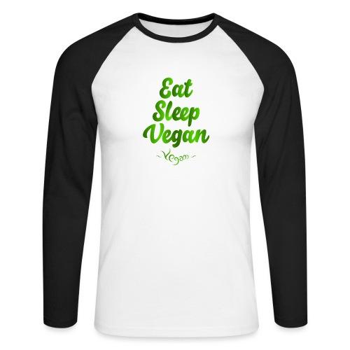 Eat Sleep Vegan - Miesten pitkähihainen baseballpaita