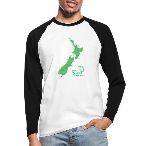 New Zealand's Map - Men's Long Sleeve Baseball T-Shirt