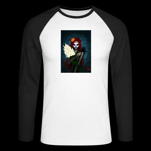 Death and lillies - Men's Long Sleeve Baseball T-Shirt
