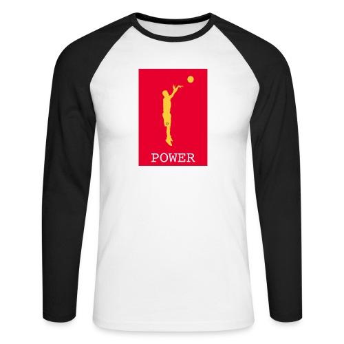 POWER BASKET - Maglia da baseball a manica lunga da uomo