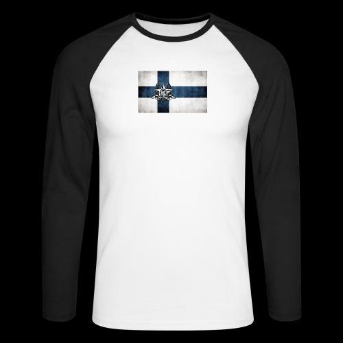 Suomen lippu - Miesten pitkähihainen baseballpaita