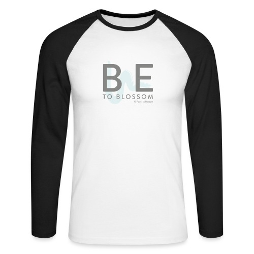 Be to blossom with swoosh (gray) -Power to Blossom - Men's Long Sleeve Baseball T-Shirt