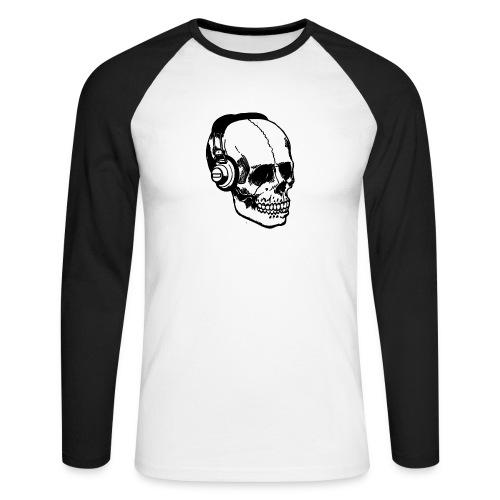 lydbog_6 - Langærmet herre-baseballshirt