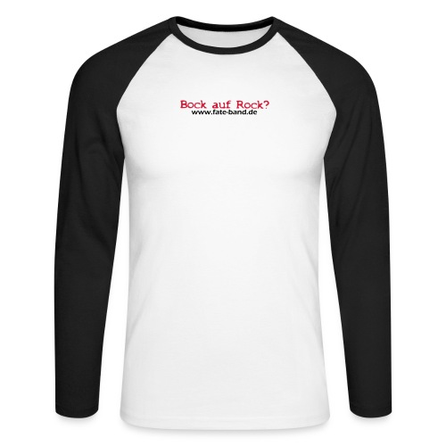 fate logo spreadshirt 4 - Männer Baseballshirt langarm