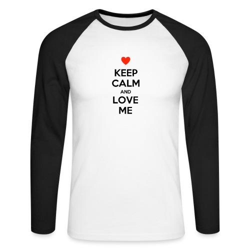 Keep calm and love me - Maglia da baseball a manica lunga da uomo