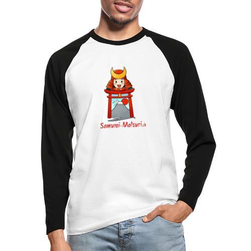 Samurai Matsuri Torii - Männer Baseballshirt langarm