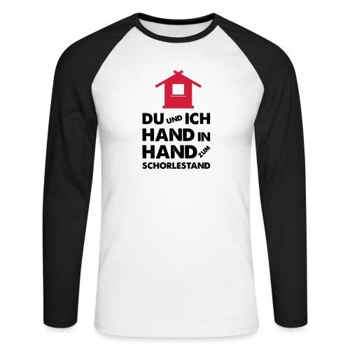 Hand in Hand zum Schorlestand / Gruppenshirt - Männer Baseballshirt langarm
