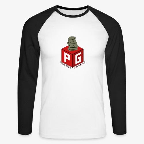 Preikestolen Gamers - Langermet baseball-skjorte for menn