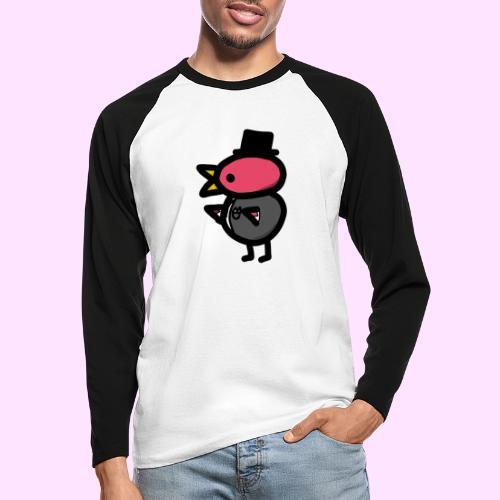 Fancy Pinkguin - Langærmet herre-baseballshirt