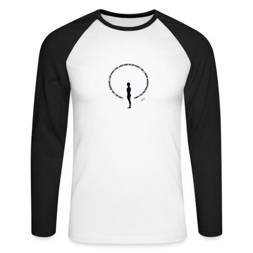 CHAREMP ORIGINAL ENGLISH LOGO SILUET BLACK png - Men's Long Sleeve Baseball T-Shirt