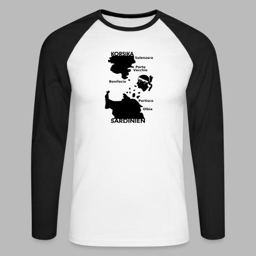 Korsika Sardinien Mori - Männer Baseballshirt langarm
