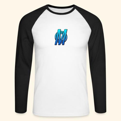MirBlue - Miesten pitkähihainen baseballpaita