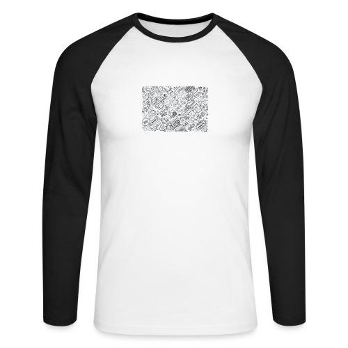 Doodle - Koszulka męska bejsbolowa z długim rękawem