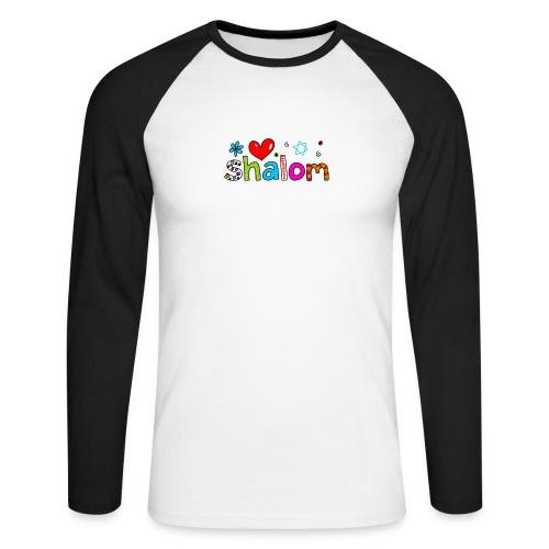 Shalom II - Männer Baseballshirt langarm