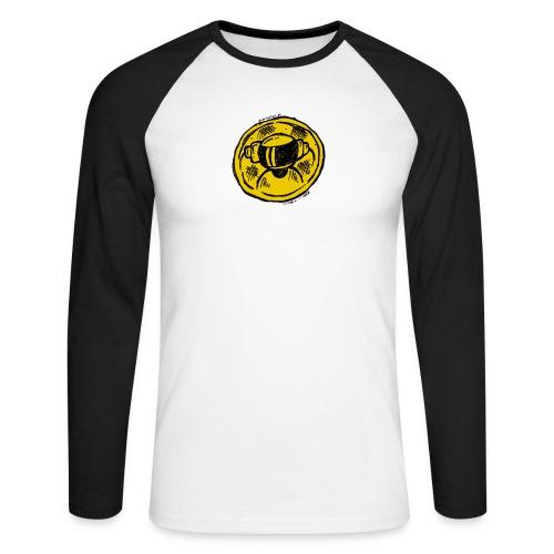 Machine Boy Ruff Yellow - Men's Long Sleeve Baseball T-Shirt