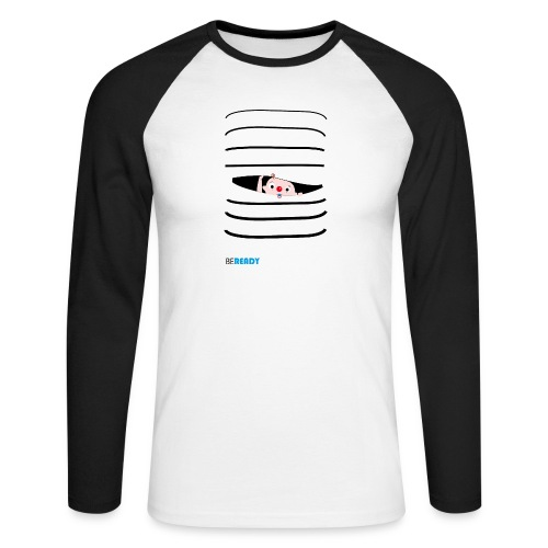 BEREADY_BOY.png - Mannen baseballshirt lange mouw