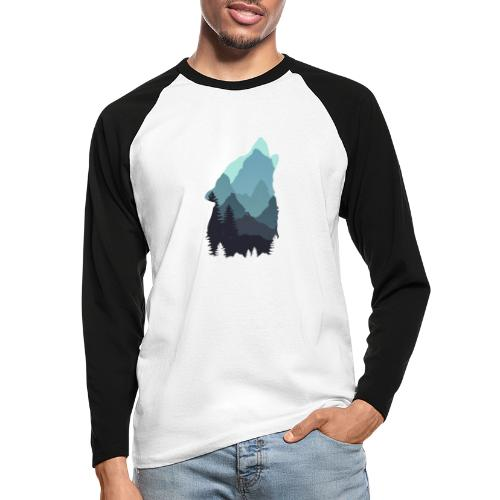 Wolf - Men's Long Sleeve Baseball T-Shirt