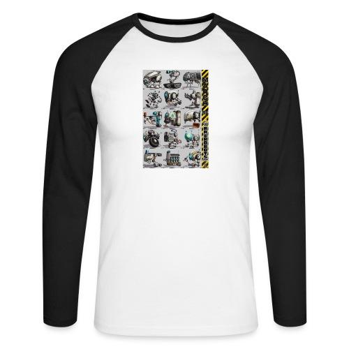 March of Rawrobots 01-15 - Langærmet herre-baseballshirt