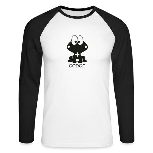 comic - Koszulka męska bejsbolowa z długim rękawem
