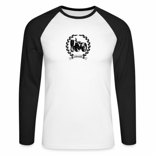 KonradSB - Koszulka męska bejsbolowa z długim rękawem