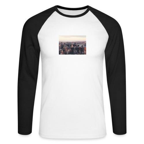 spreadshirt - T-shirt baseball manches longues Homme