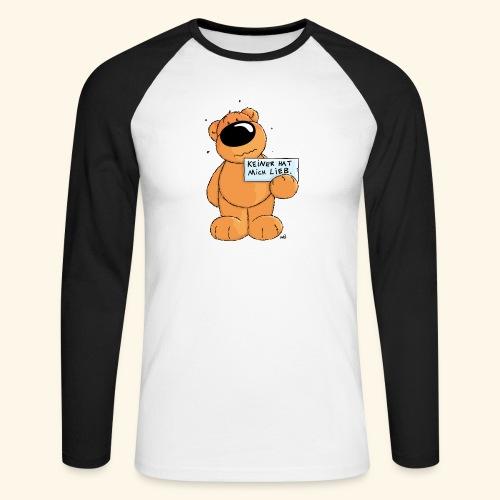 chris bears Keiner hat mich lieb - Männer Baseballshirt langarm