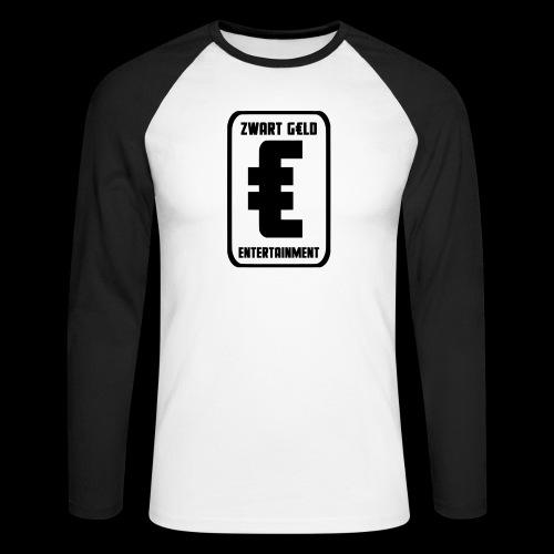 ZwartGeld Logo Sweater - Mannen baseballshirt lange mouw