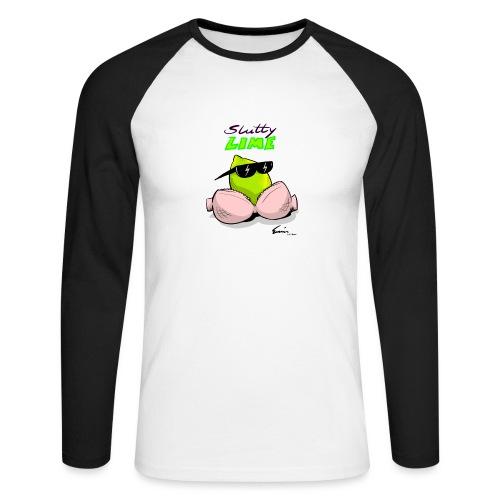 Slutty Lime - Langærmet herre-baseballshirt