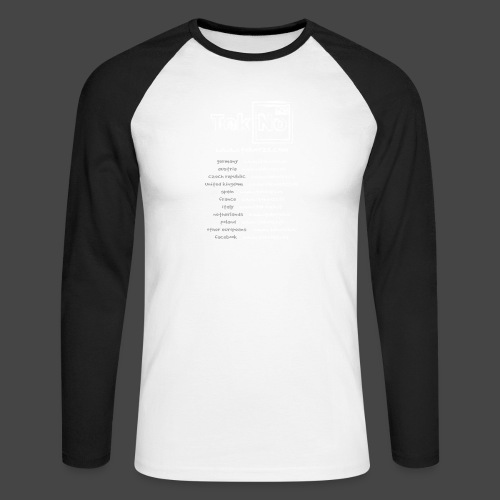 tekno23 - T-shirt baseball manches longues Homme