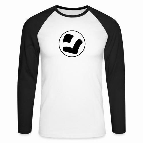 LaidPark Black Logo - Miesten pitkähihainen baseballpaita