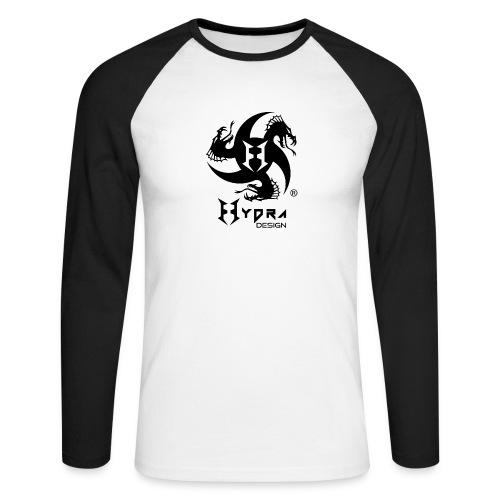 Hydra DESIGN - logo blk - Maglia da baseball a manica lunga da uomo