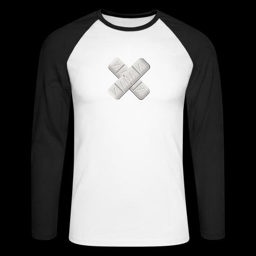 Xanax X Logo - Männer Baseballshirt langarm