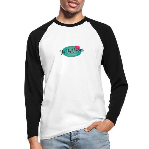 vavavoom logo 330v760 - Langærmet herre-baseballshirt