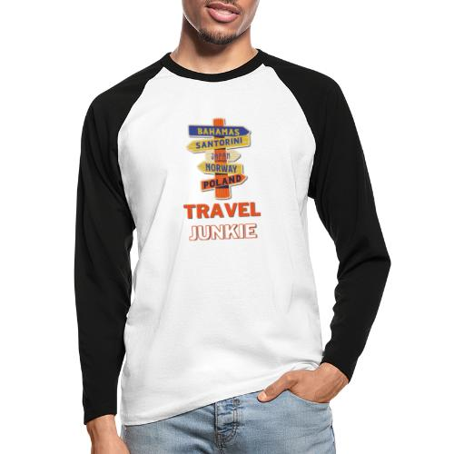 traveljunkie - i like to travel - Männer Baseballshirt langarm
