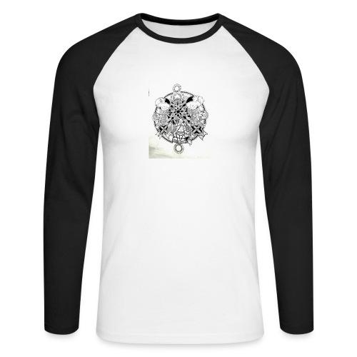 guerriere celtique entrelacs bretagne femme - T-shirt baseball manches longues Homme