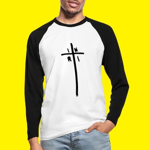Cross - INRI (Jesus of Nazareth King of Jews) - Men's Long Sleeve Baseball T-Shirt