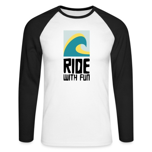 RWF Logo black - Männer Baseballshirt langarm