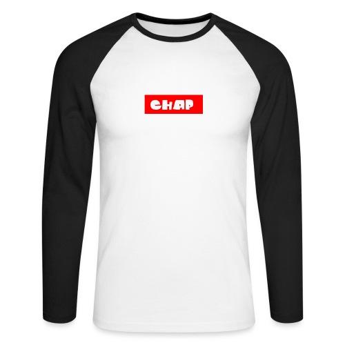 no-more-then-chap - Langærmet herre-baseballshirt
