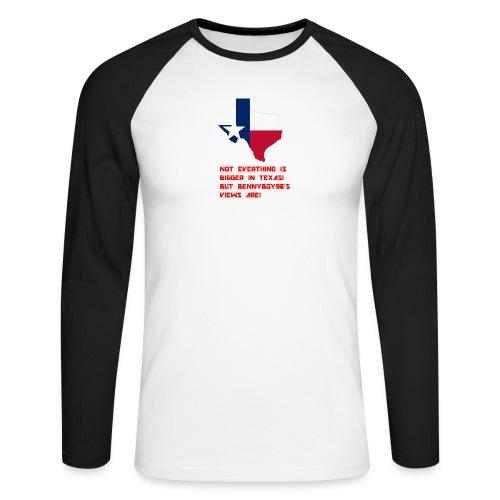 TEXAS MERCH - Men's Long Sleeve Baseball T-Shirt