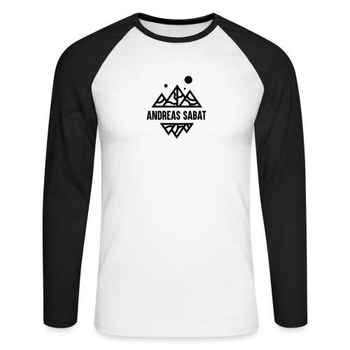 sabat logo black - Langærmet herre-baseballshirt