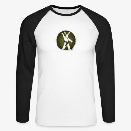 Metal Bunny - Langermet baseball-skjorte for menn
