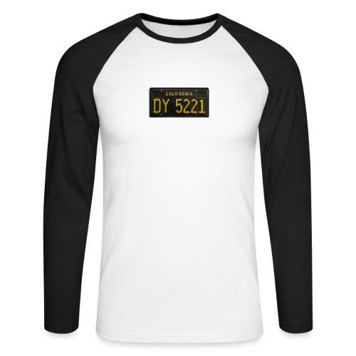 CALIFORNIA BLACK LICENCE PLATE - Men's Long Sleeve Baseball T-Shirt