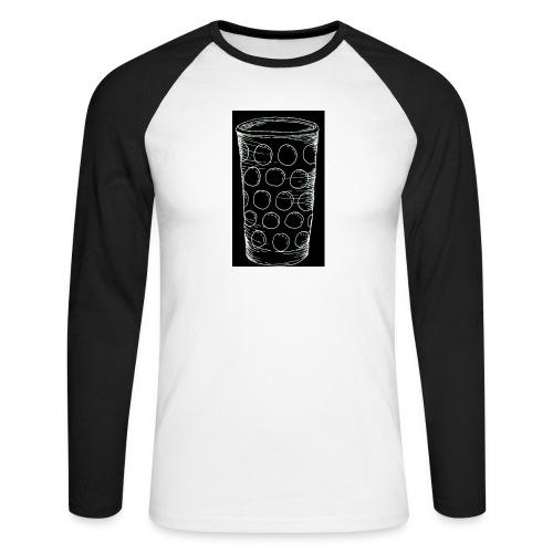 Leergut Dubbeglas -schwarz - Männer Baseballshirt langarm