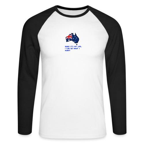 AUSTRALIAN MERCH - Men's Long Sleeve Baseball T-Shirt