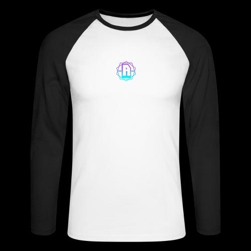 'A' Design Blue Edition - Men's Long Sleeve Baseball T-Shirt