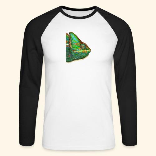 Chamäleon - Männer Baseballshirt langarm