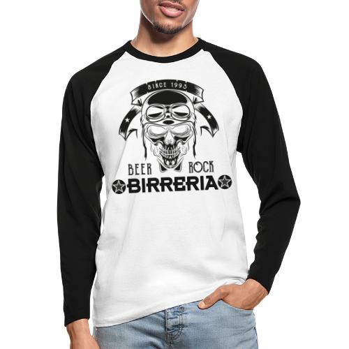 Classic Birreria Rock Skull - Männer Baseballshirt langarm