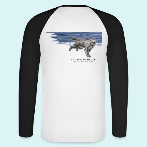Polar-Blues-SpSh - Men's Long Sleeve Baseball T-Shirt
